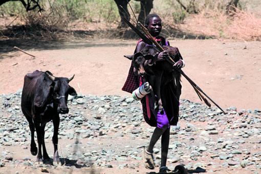 Masai con vitello@0507