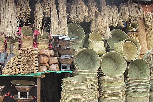 RICE REED STORAGE BASKETS