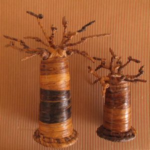 baobab in rafia creati dagli artigiani del Madagascar