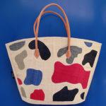 MOO round naturale – borsa artigianale in rafia realizzata a mano in Madagascar