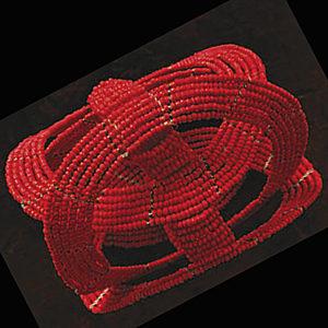 bracciale africano Ukuti Ukuti rosso