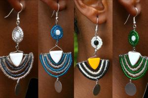 orecchini artigianali africani Konongoi