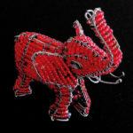 elefante rosso - Perle del Deserto