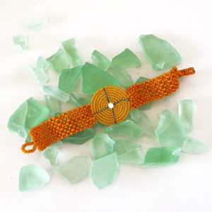 bracciale maasai Theresia arancione