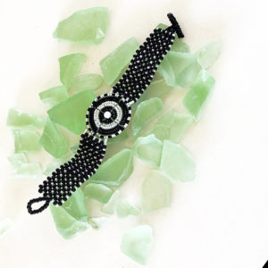 bracciale maasai Theresia nero/bianco