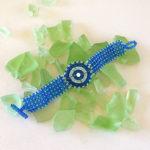 bracciale maasai Theresia turchese/perla